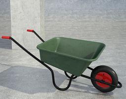 wheelbarrow green 3D Model