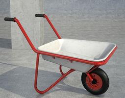 wheelbarrow white 3D Model