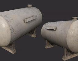 3D asset Gas Tank PBR