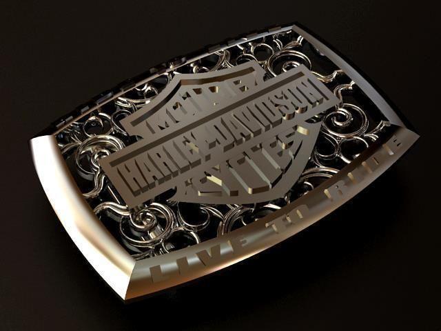Harley Davidson Silver Belt Buckle