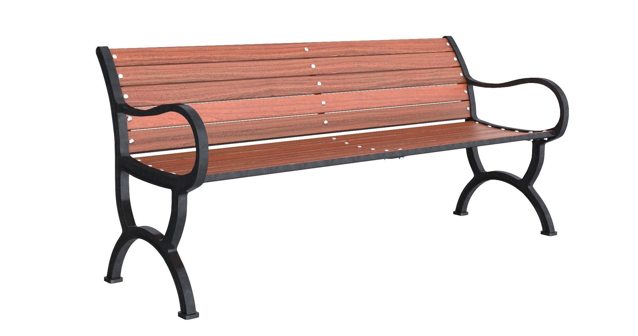 3D metal Park bench | CGTrader