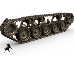 M-24 Chaffee  Tracks 3D Model