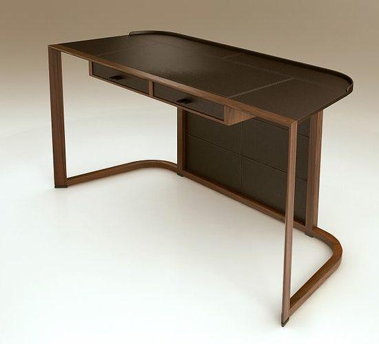 giorgetti ion desk 3d model max obj mtl 1