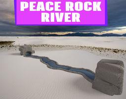 PEACE ROCK RIVER 3D model