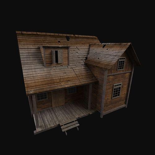 old house 3d model max obj mtl fbx 1