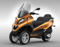 3D Piaggio MP3 Scooter 2016 2017