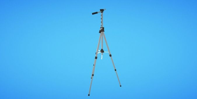 Camera Tripod - Low Poly
