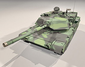 animated PBR M1A2 tank 3d model