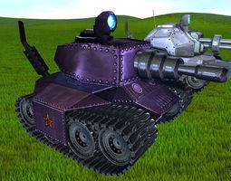 Toon Tanks pack 3D asset