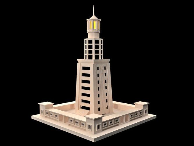 Lighthouse Of Alexandria 3d Model Max Obj Mtl 3ds Fbx 1