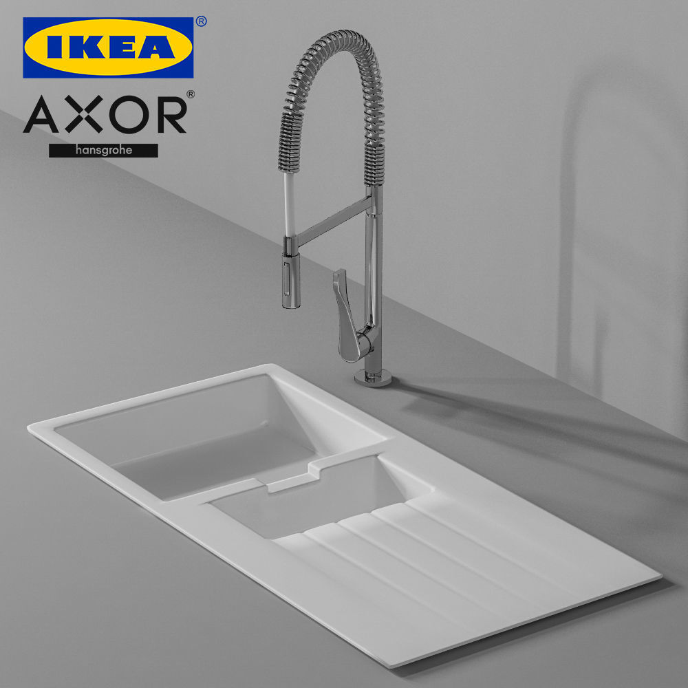 Hansgrohe Axor Citterio Faucet and Ikea 3D model
