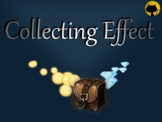 collecting effect 3d model low-poly rigged animated unitypackage prefab 1