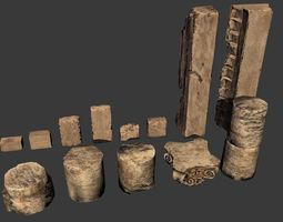 pillars 3D asset