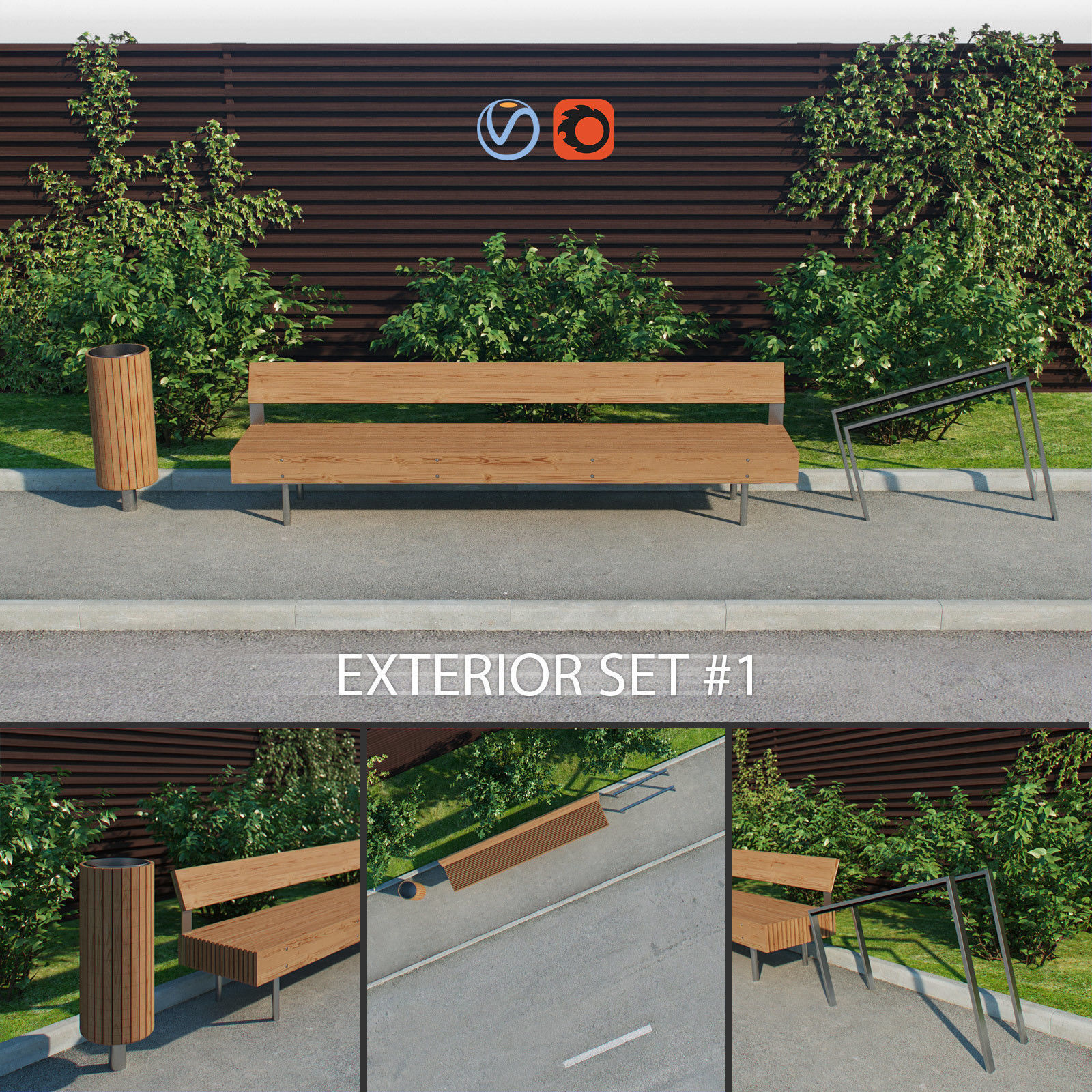 Exterior set 1 - Woody LWD150 - Nanuk NNK110 - Edgetyre STE110
