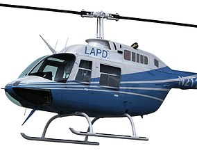 3D model Bell 206 Helicopter