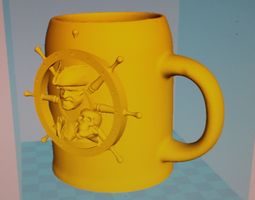 games 3D printable model Pirate Mug