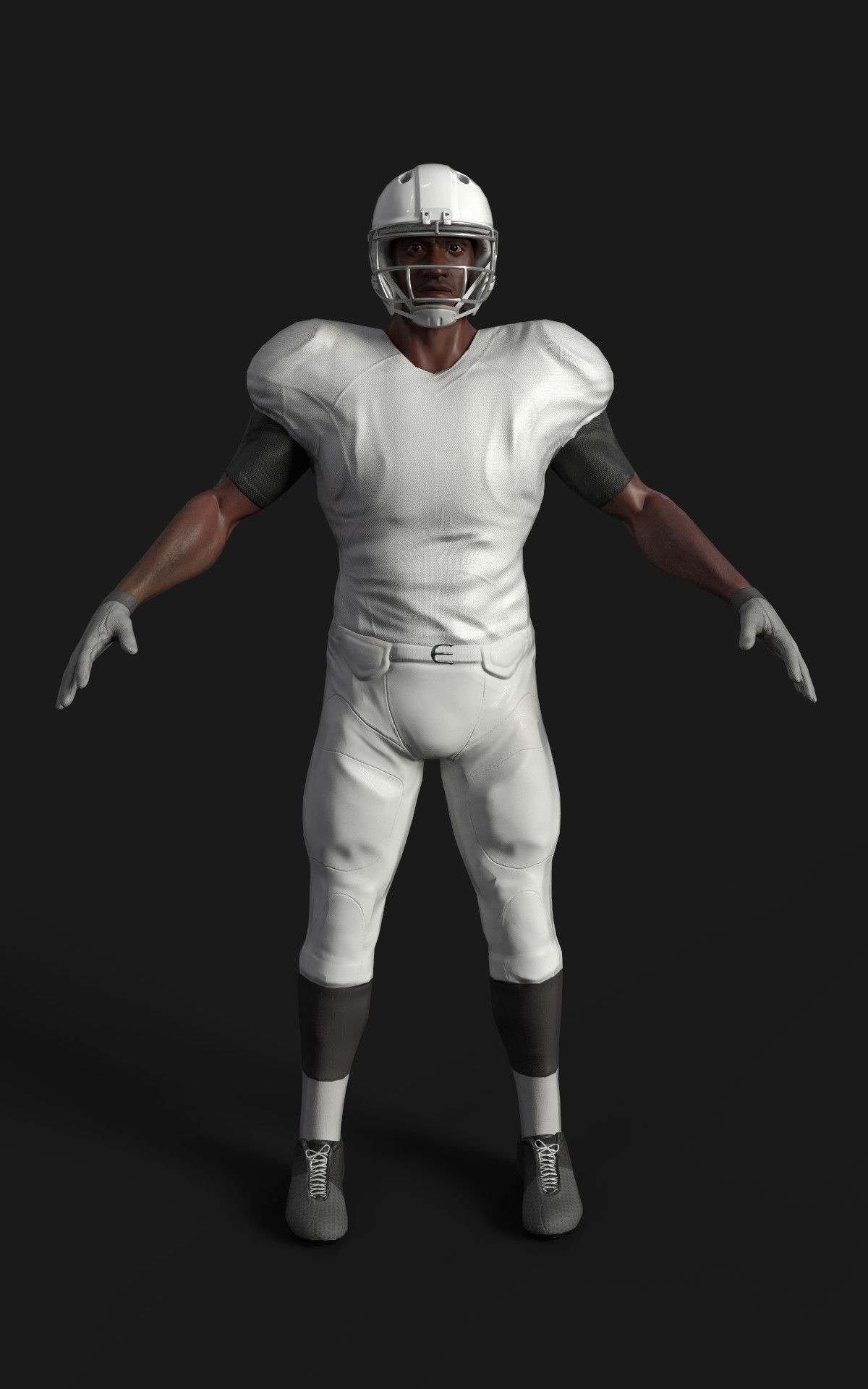 Game ready football player