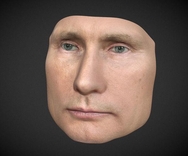 vladimir putin mask - multicolor 3d printable 3d model obj mtl 3ds stl ply 1