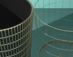 3D model 2 Waste Paper Baskets