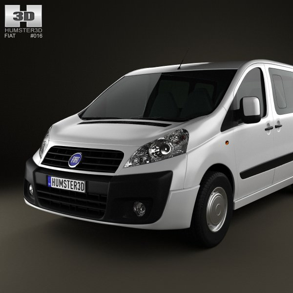 fiat scudo panorama shortwheelbase 4 door 2011 3d model max obj 3ds fbx c4d lwo lw lws. Black Bedroom Furniture Sets. Home Design Ideas