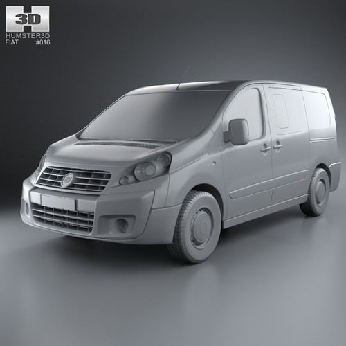 fiat scudo panorama shortwheelbase 4 door 3d model max obj 3ds fbx c4d lwo lw lws. Black Bedroom Furniture Sets. Home Design Ideas