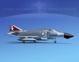 McDonnell Douglas F-4J Phantom II V21 UK 3D model