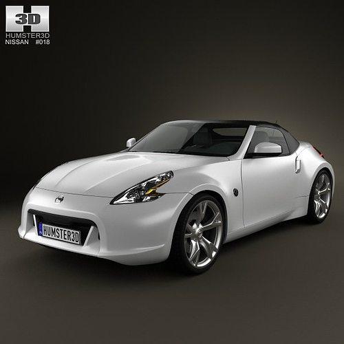 nissan 370z roadster 2009 3d cgtrader. Black Bedroom Furniture Sets. Home Design Ideas