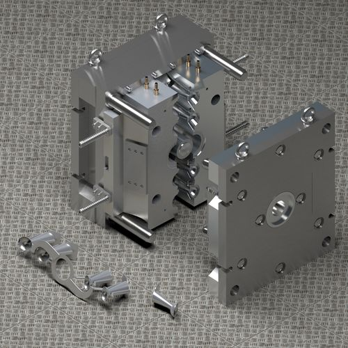 Aluminum injection mold | 3D model