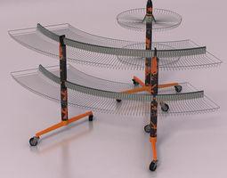 Retail shop racks 3D Model