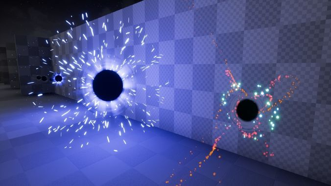 sci-fi particle projectile fx pack 3d model low-poly tga uasset 1