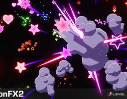 Cartoon FX 2 3D asset