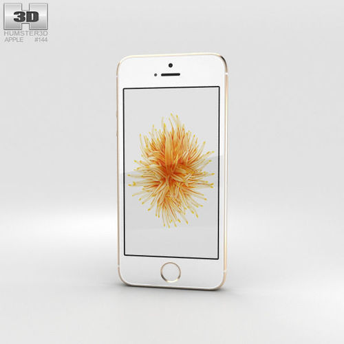 apple iphone se gold 3d model max obj mtl 3ds fbx c4d lwo lw lws 1