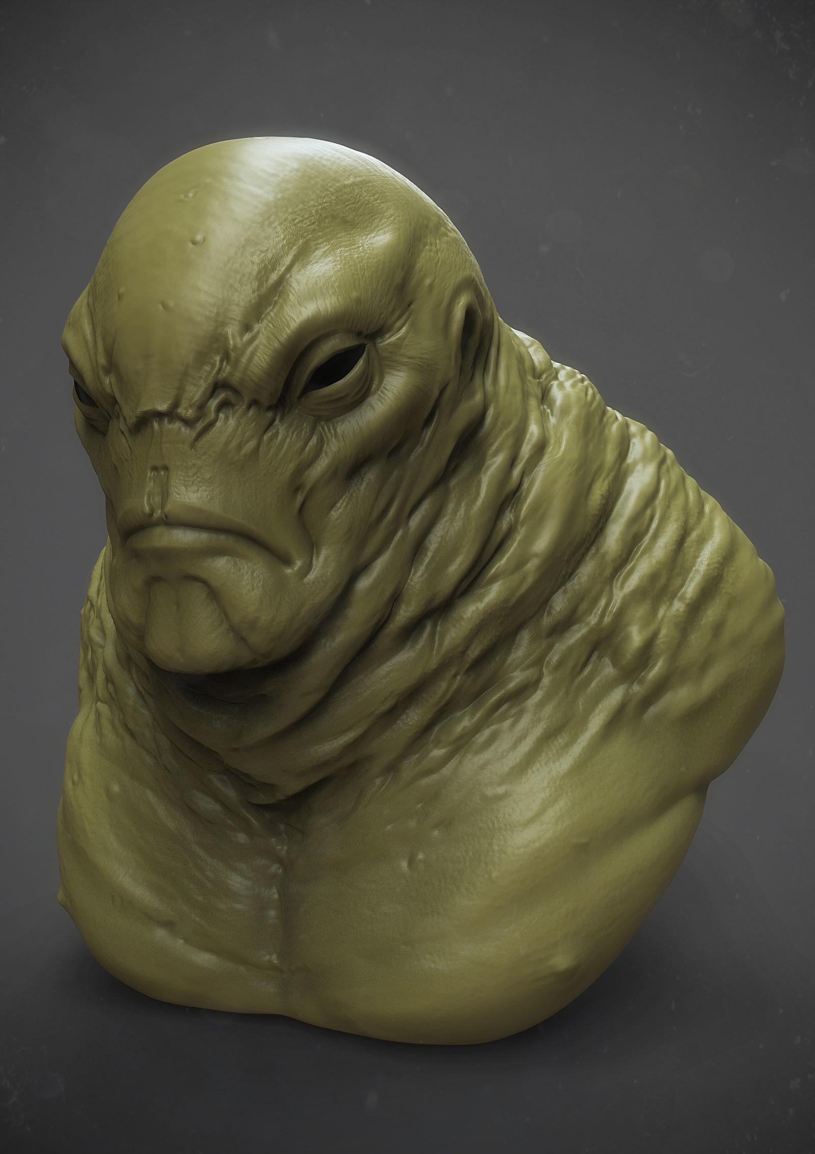 Monster fat guy for 3d printing