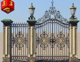 Antique gate-3 3D