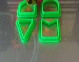 Cookie Cutters Pennants Banderines 3D printable model