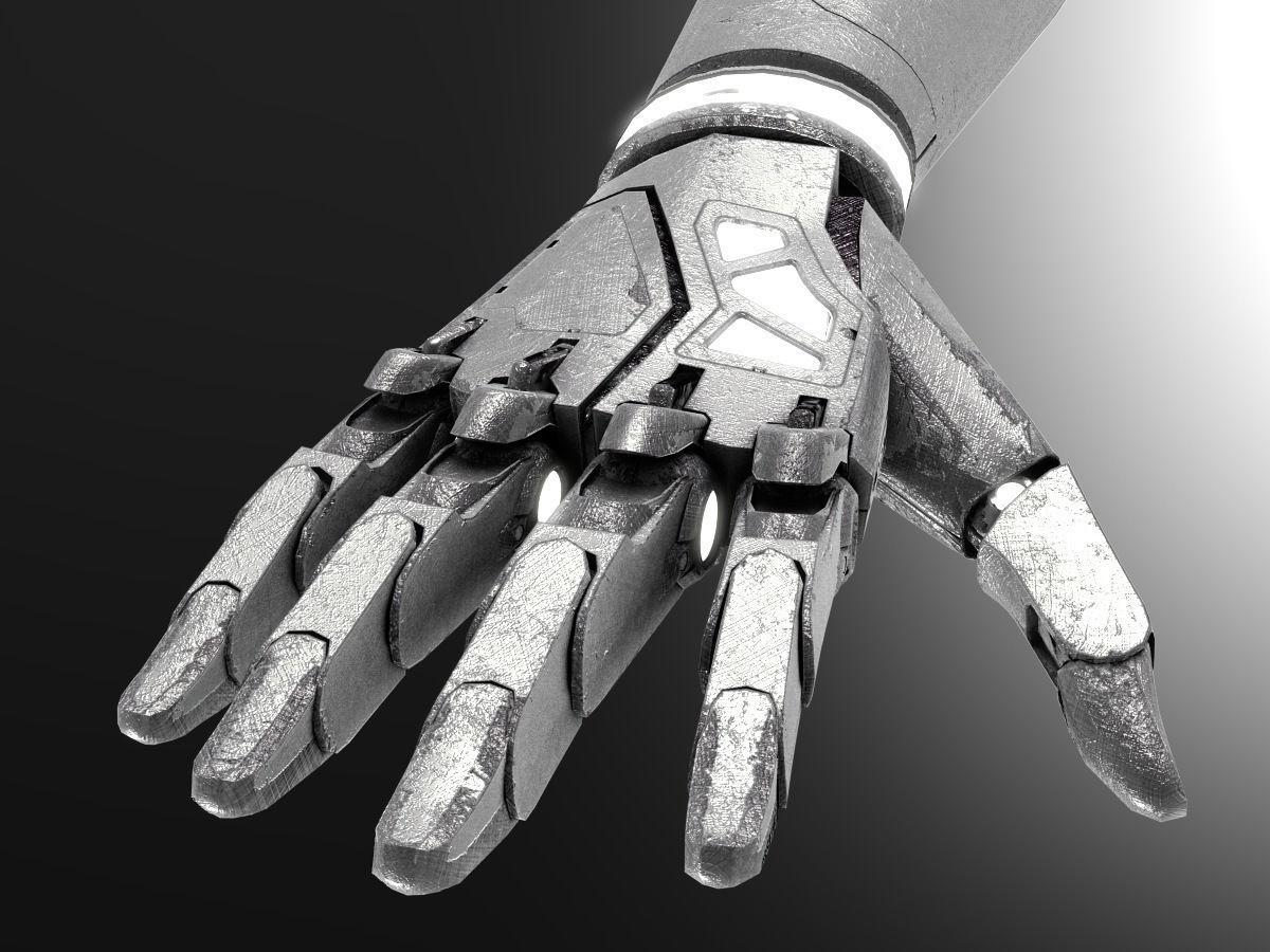Robot hand dirt