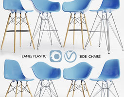 Eames Plastic Side Chairs 3D