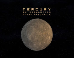 animated mercury high realistic 3d model low-poly