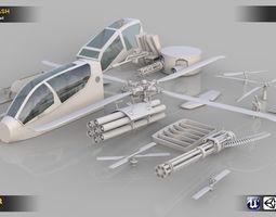 3D asset Aircraft Kitbash Parts 20 Pieces