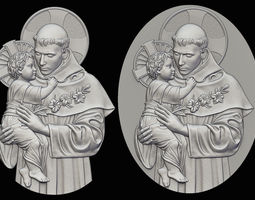 St Anthony Relief No Undercuts 3D printable model