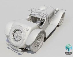 Riley 1935 classic car 3D model