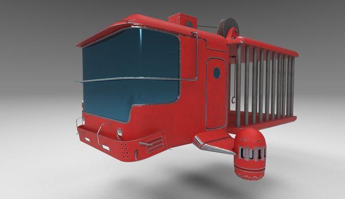 zombie catcher ship from zombie catcher mobile game 3d model max obj mtl 3ds fbx tga 1
