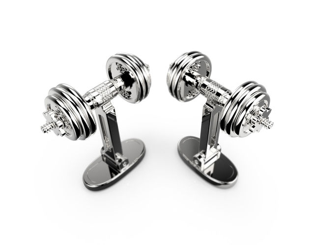 dumbbells cufflinks 3d model max fbx stl 3dm 1