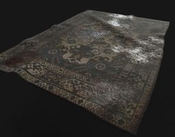 3D asset Old Dirty Carpet