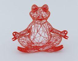 3D print model Yoga Frog Wireframe