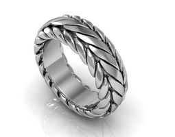 3D print model LUXURIOUS BAND ring