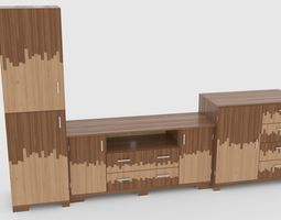 tv stand 56 3D model