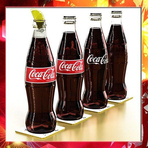 coke - coca cola glass bottle 3d model max obj mtl 3ds fbx mat 1