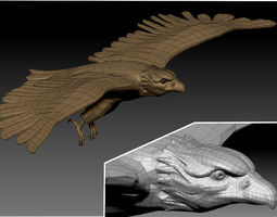 3D EAGLE FLYING game-ready