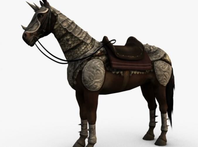 Horse with armor3D model